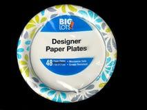 Grote Partijenontwerper Paper Plates Stock Afbeelding