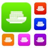 Grote passagiersschip vastgestelde inzameling Royalty-vrije Stock Afbeeldingen