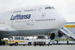 Grote passagiersvliegtuigen Stock Afbeelding