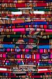 Grote Peruviaanse stof Stock Fotografie