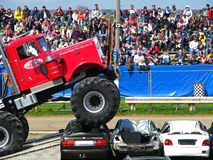 Grote Pete Monster Truck royalty-vrije stock fotografie