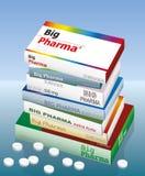 Grote Pharma-Geneeskunde Royalty-vrije Stock Afbeeldingen