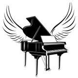 Grote piano en vleugel vector illustratie