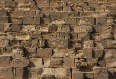Grote Piramide in Giza Stock Foto