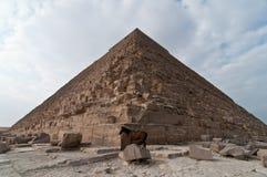 Grote Piramide van Giza royalty-vrije stock afbeeldingen