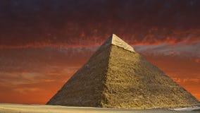 Grote Piramide van Giza, de Reis van Egypte, Zonsopgang, Zonsondergang stock video