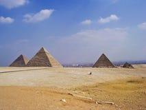 Grote piramides van Egypte royalty-vrije stock foto's