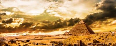 Grote Piramides van Giza royalty-vrije stock foto