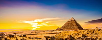 Grote Piramides van Giza stock foto