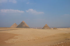 Grote Piramides van Gizah in Kaïro, Egypte Stock Afbeeldingen