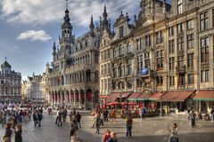 Grote Plaats Brussel Stock Afbeelding