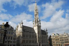 Grote Plaats, Brussel, België Royalty-vrije Stock Afbeeldingen