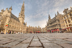 Grote Plaats - Brussel, België Stock Foto