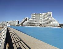 Grote pool Algarrobo Stock Foto's