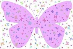Grote Purpere Vlinder stock illustratie