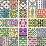 Grote reeks abstracte retro stijl naadloze patronen Stock Foto's