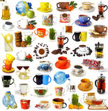 Grote reeks dranken royalty-vrije stock afbeelding