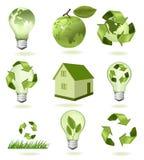 Grote reeks ecologiepictogrammen. vector illustratie
