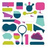 Grote reeks kleurrijke verkoopstickers, bellen, linten royalty-vrije illustratie