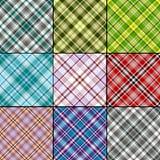 Grote reeks Schotse naadloze patronen Stock Afbeeldingen