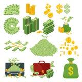 Grote reeks van geld stock illustratie