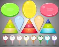 Grote reeks van infographics Royalty-vrije Stock Afbeelding