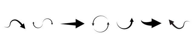 Grote reeks van super, megaschutter De Pijlen van het vectorafbeeldingenontwerp vector illustratie