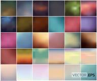 Grote Reeks van Zachte Gekleurde Abstracte Achtergrond Royalty-vrije Stock Afbeelding