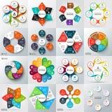 Grote reeks vectorelementen voor infographic Royalty-vrije Stock Afbeelding