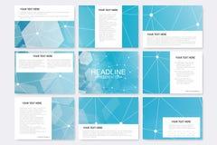 Grote reeks vectormalplaatjes voor presentatiedia's Royalty-vrije Illustratie