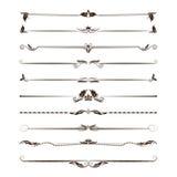 Grote reeks verdelers Vector kalligrafische ontwerpelementen en paginadecoratie Royalty-vrije Stock Afbeelding