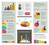 Grote reeks vlakke infographic elementen Royalty-vrije Stock Afbeeldingen