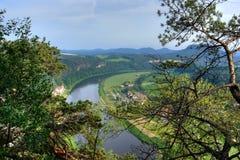 Grote rivier (Elbe) Stock Foto's
