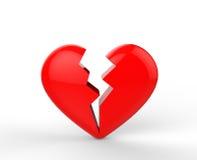 Grote rode hartzeervormen Royalty-vrije Stock Foto