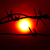 Grote rode zon Royalty-vrije Stock Afbeeldingen