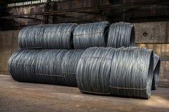 Grote rol van Aluminiumdraad Stock Afbeelding