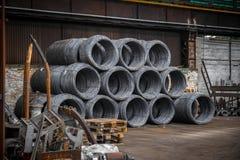 Grote rol van Aluminiumdraad Royalty-vrije Stock Foto