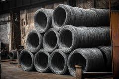 Grote rol van Aluminiumdraad Royalty-vrije Stock Afbeelding