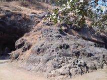 Grote rots in elephantaholen in mumbai Stock Afbeelding