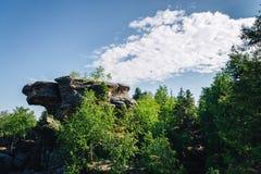 Grote rots met het intresting van vorm Royalty-vrije Stock Foto