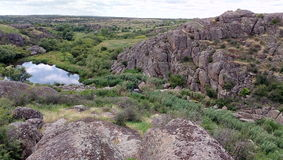Grote rotsen van grote canion Stock Afbeelding