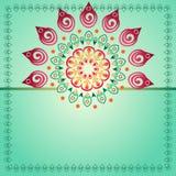 Grote roze bloem met decoratieve krullen en een plaats voor uw tekst Stock Foto