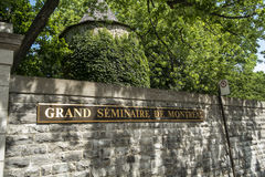 Grote séminaire DE Montréal royalty-vrije stock foto