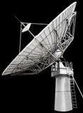 Grote satellietschotel parabolische die antenne voor transatlanti wordt ontworpen Stock Afbeelding