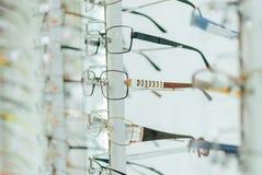 Grote selectie van glazen Stock Foto's
