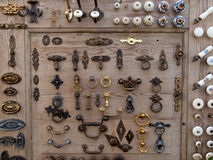 Grote selectie van kabinettenknoppen Stock Foto