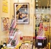 De opslag van Macaron in Rouen, Frankrijk Royalty-vrije Stock Afbeelding