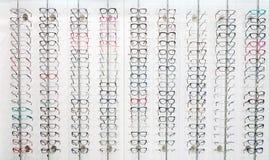 Grote selectie van oogkaders voor glazen i royalty-vrije stock foto