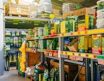 Grote selectie van zaden voor groen gras Royalty-vrije Stock Foto
