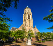 Grote of Sint-Laurenskerk, a church in Rotterdam Royalty Free Stock Photo